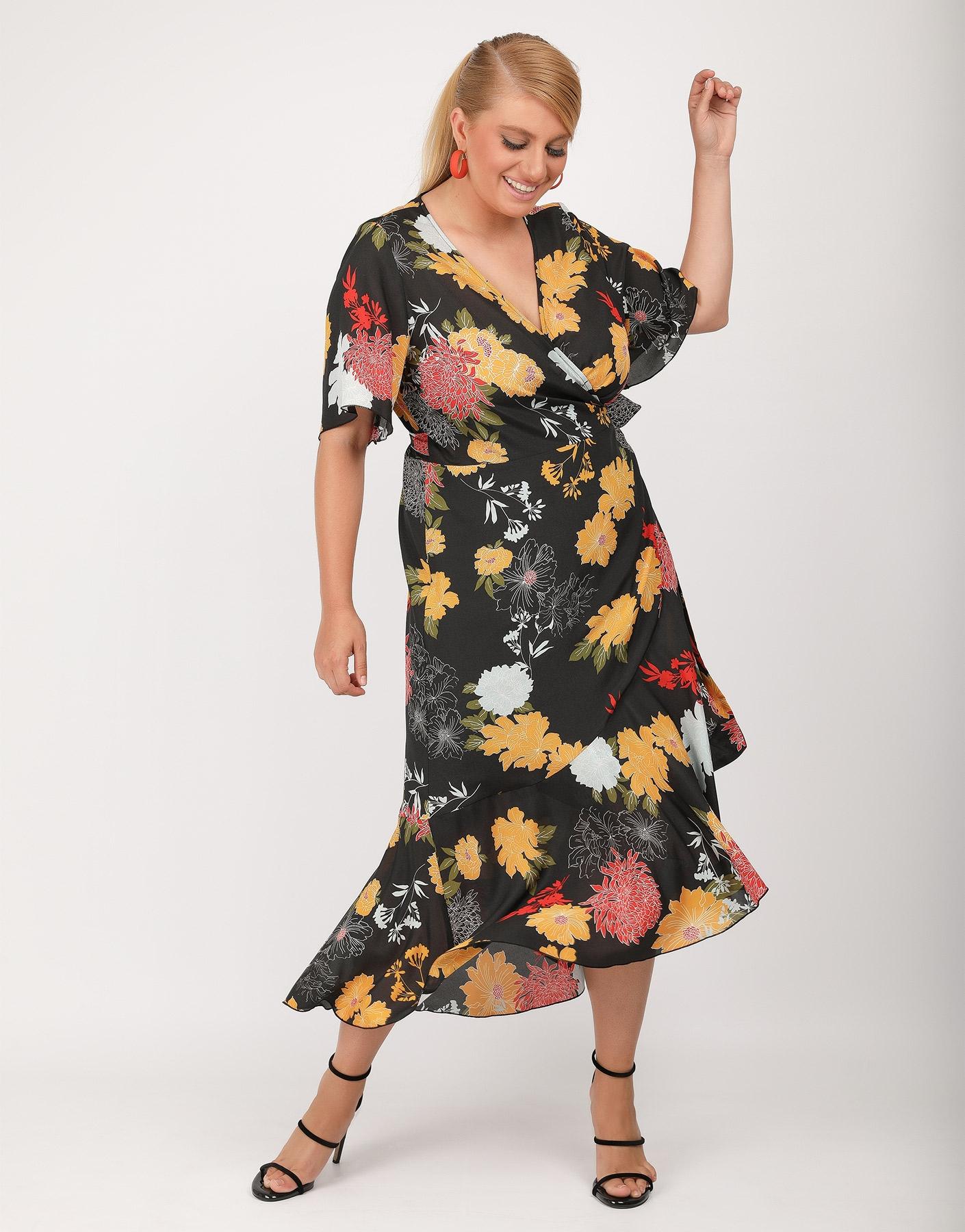 Κρουαζέ, floral φόρεμα