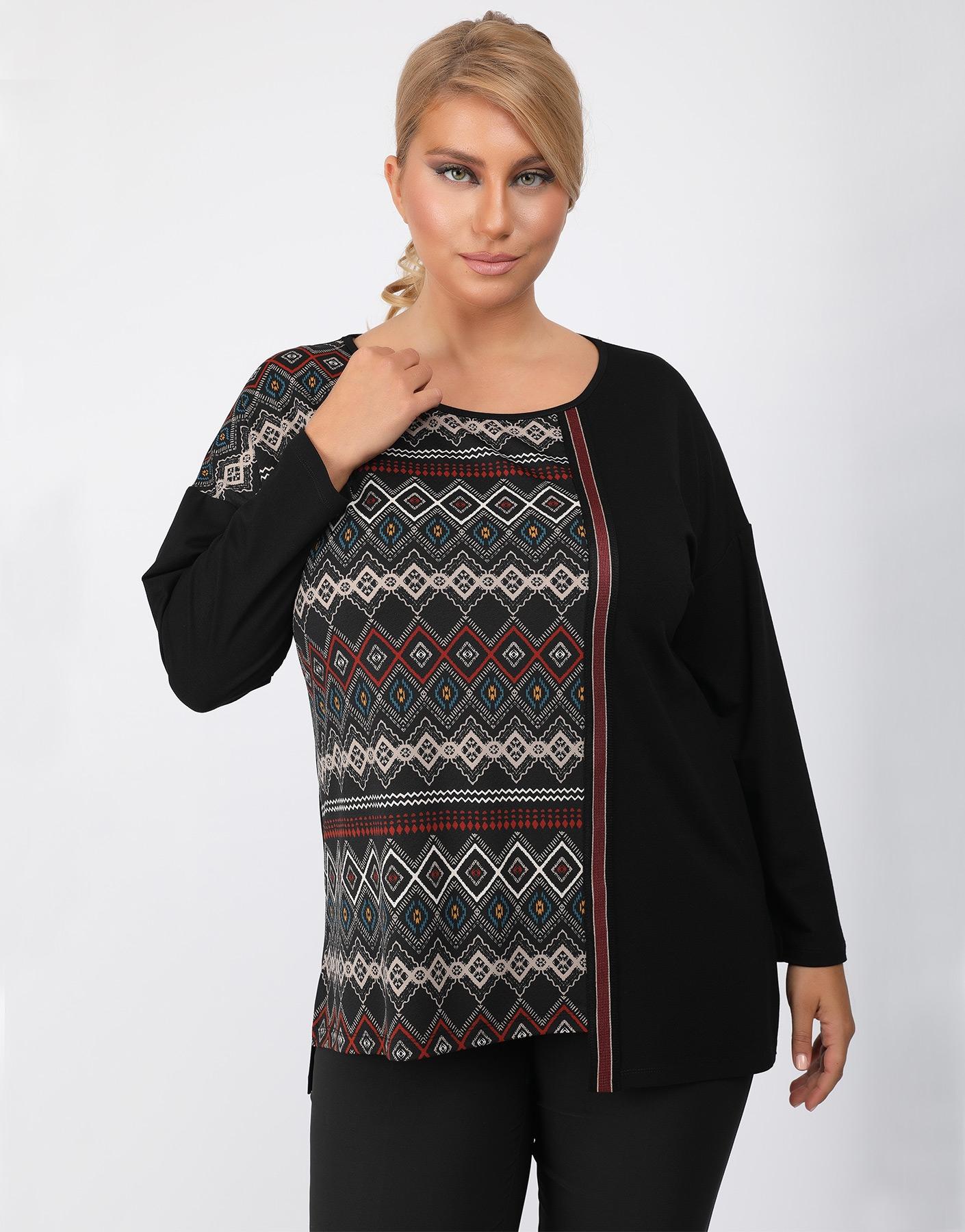 Ασύμμετρη ethnic μπλούζα