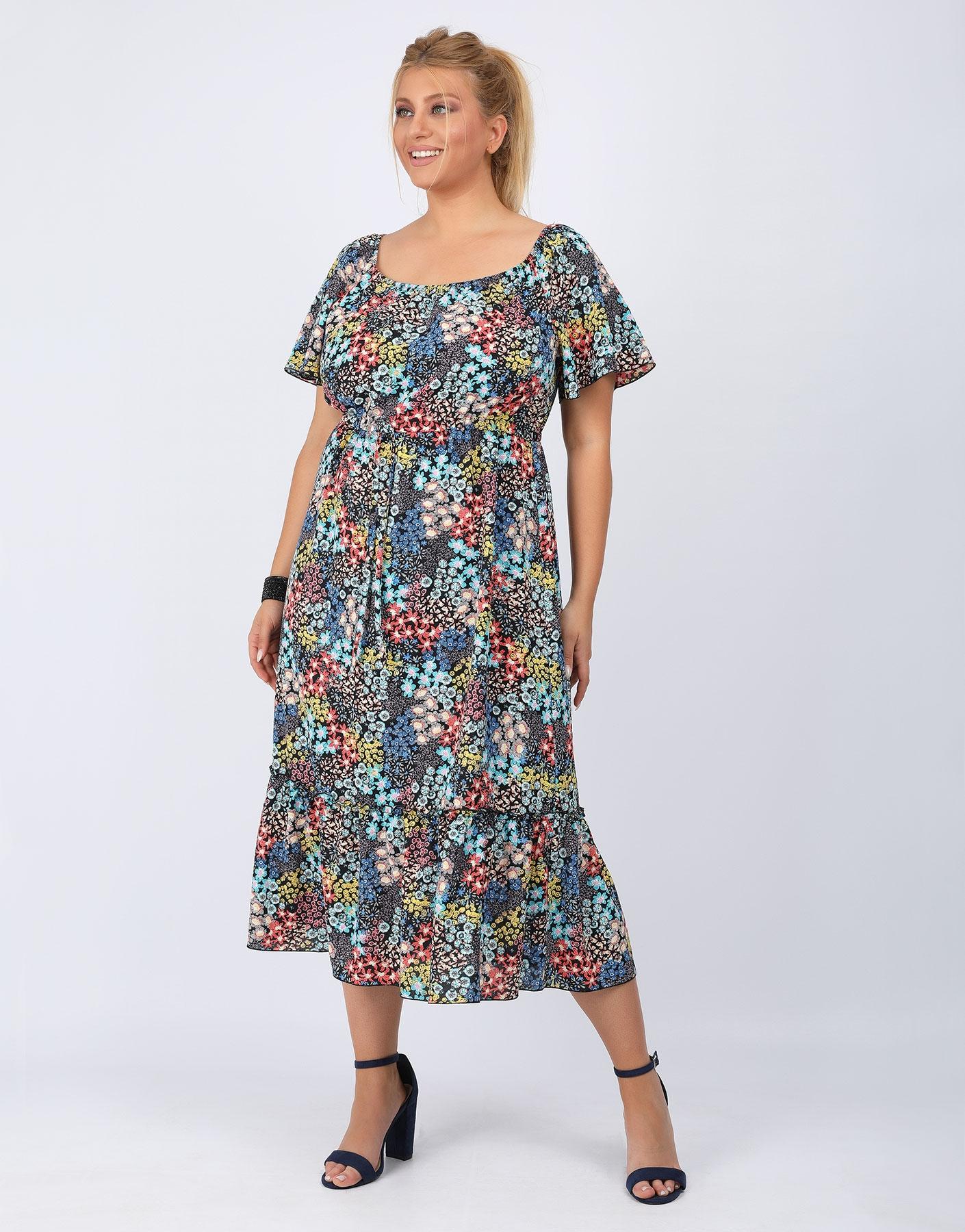 Φόρεμα με βολάν & ζωνάκι
